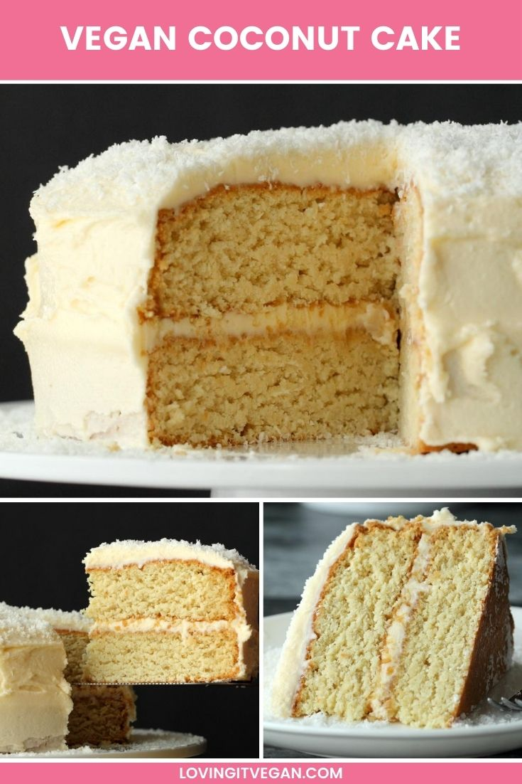Vegan Coconut Cake In 2020 Vegan Coconut Cake Vegan Sweets Dessert Recipes