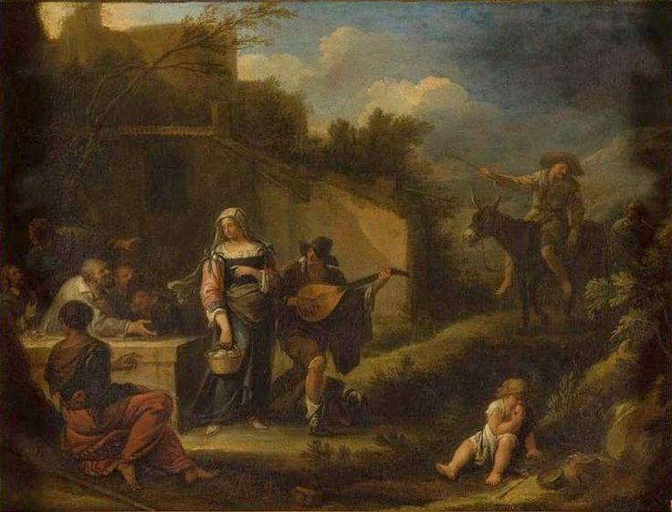 Buveurs à la porte d'une auberge - Dirk Helmbreker — Wikipédia