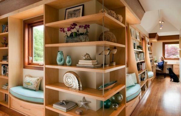 Красивые угловые полки и встроенная мебель