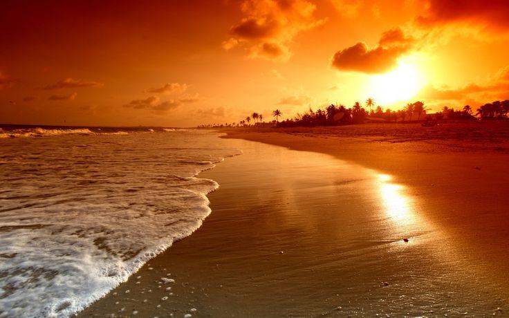 California Beaches At Sunset Wallpaper HD