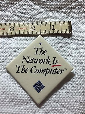 """SUN Microsystems """"The Network Is The Computer"""" Button - http://electronics.goshoppins.com/vintage-computing/sun-microsystems-the-network-is-the-computer-button/"""