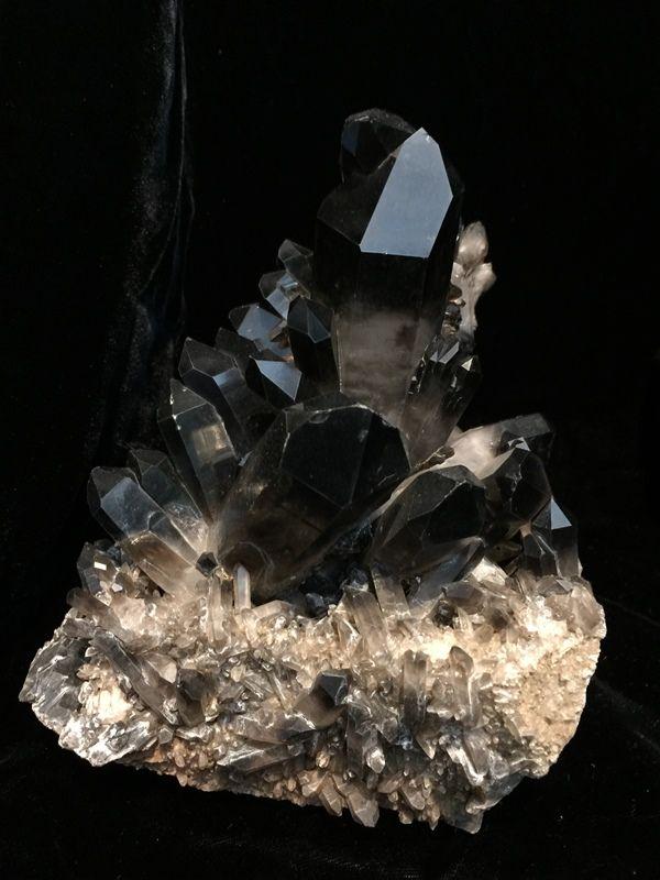 Mesmerizing Black Quartz Crystal Cluster $325 http://www.gothicroseantiques.com/MesmerizingBlackQuartzCrystalCluster.html
