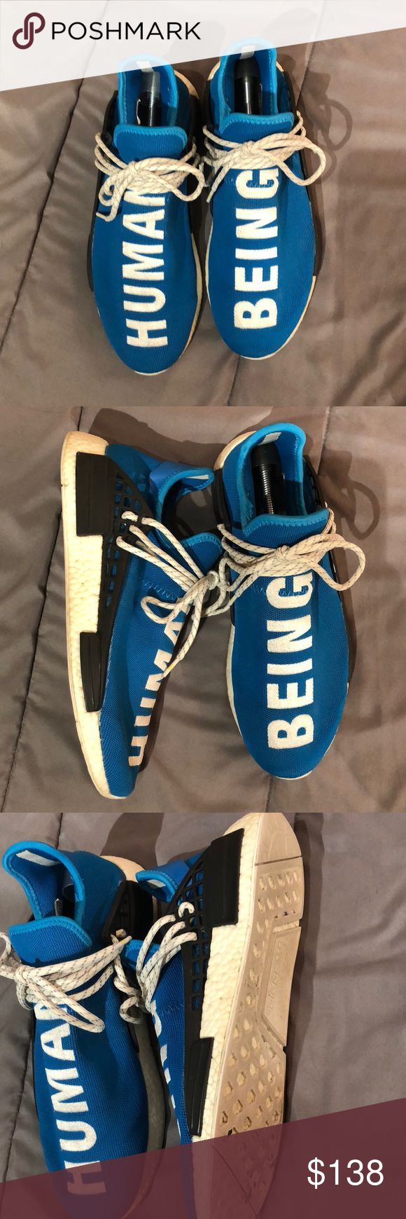Human race NMD This is a fantastic UA version of the shoe and is the exact same as the original. I'm good condition but definitely have seen the world. Will come cleaned! Everything is exact down to the boost. Just wanting to sell and or trade!! Whatcha see is whatcha get! adidas Shoes Sneakers