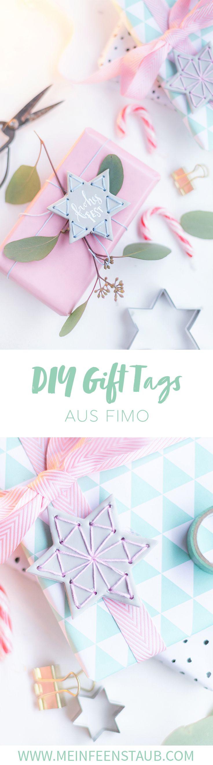 DIY Bestickte Sterne aus FIMO mit Lettering