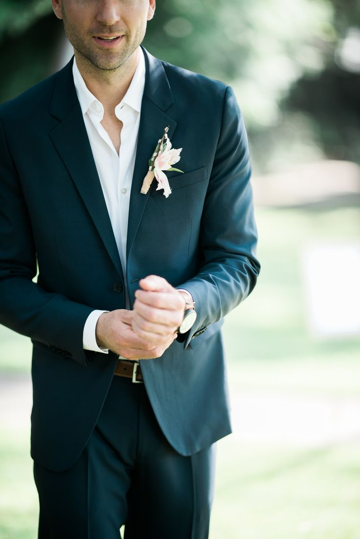 Vintage Wedding Inspiration Der Navy Suit No Tie Jeremy Pinterest Weddings And