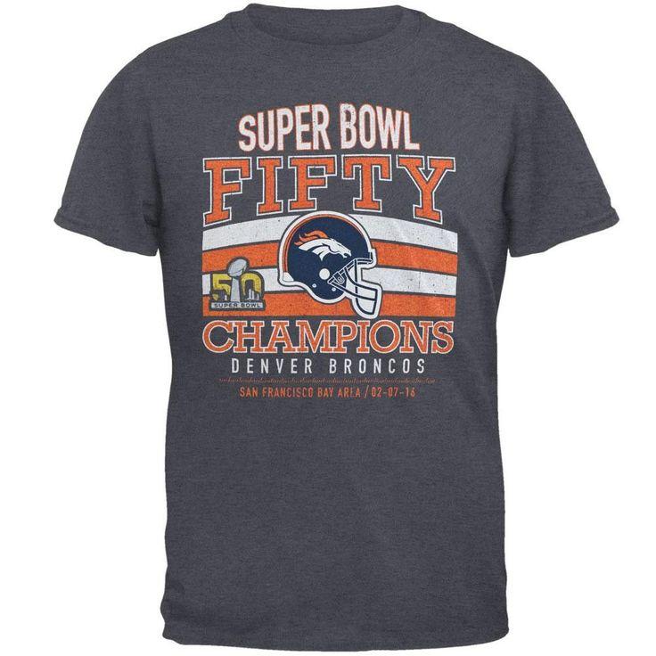 Denver Broncos - Super Bowl 50 Champions Classic Game Tri-Blend Adult T-Shirt