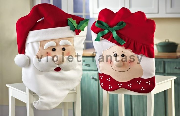 Holy Christmas Santa Claus Smily Face Chair Cover High Quality Christmas Decor #Unbranded