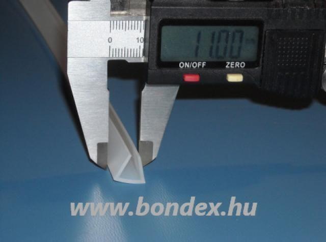 Vékonyfalú szilikon élvédő 8 mm-es élhez