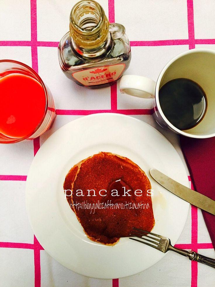 Quando dico che questa ricetta è a prova di bambino non scherzo e chi si è dedicato alla realizzazione dei pancakes è difatti mio figlio Nicolò, di soli no