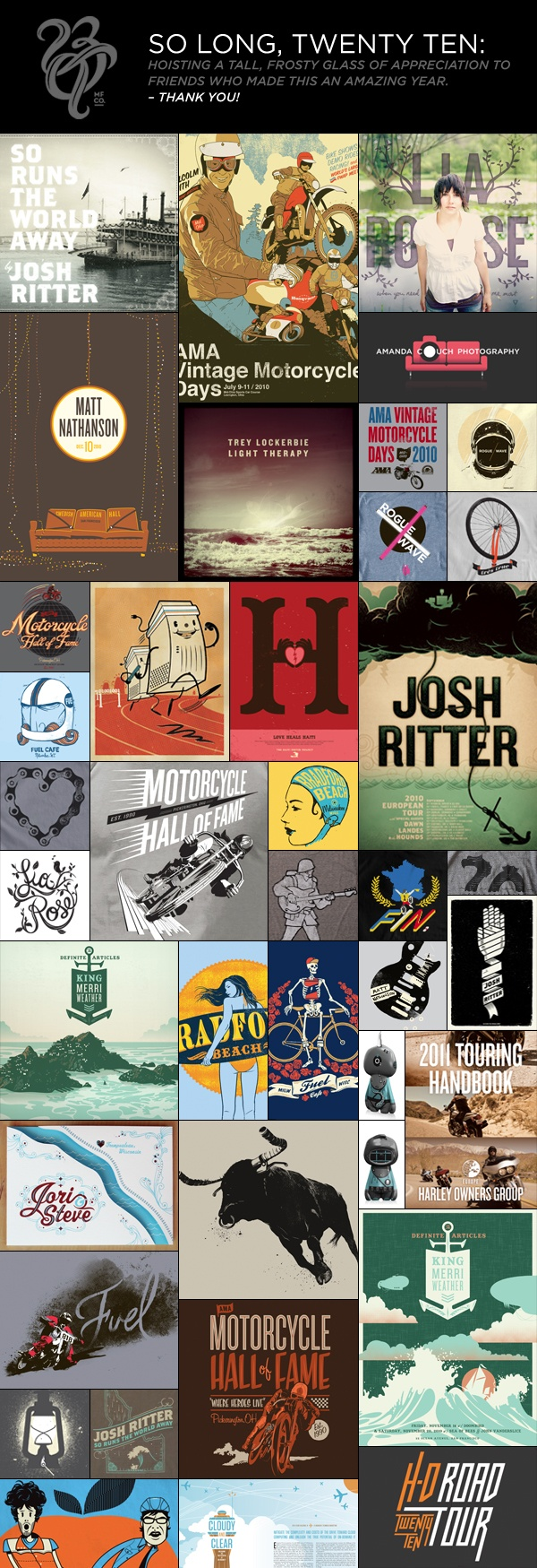Poster design blog - Compilation By Matthew Fleming A Nod To The Great Poster Design Of 2010 Via Blackt