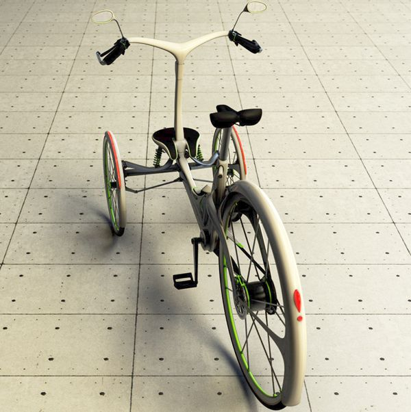 This electric assisted tricycle was designed to be a quick, reliable commuting alternative in the big city that will promotes a mentality of sustainability and eco-friendliness