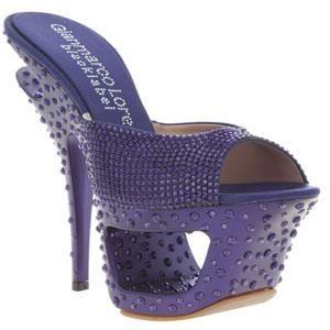 Фиолетовые сапоги и туфли