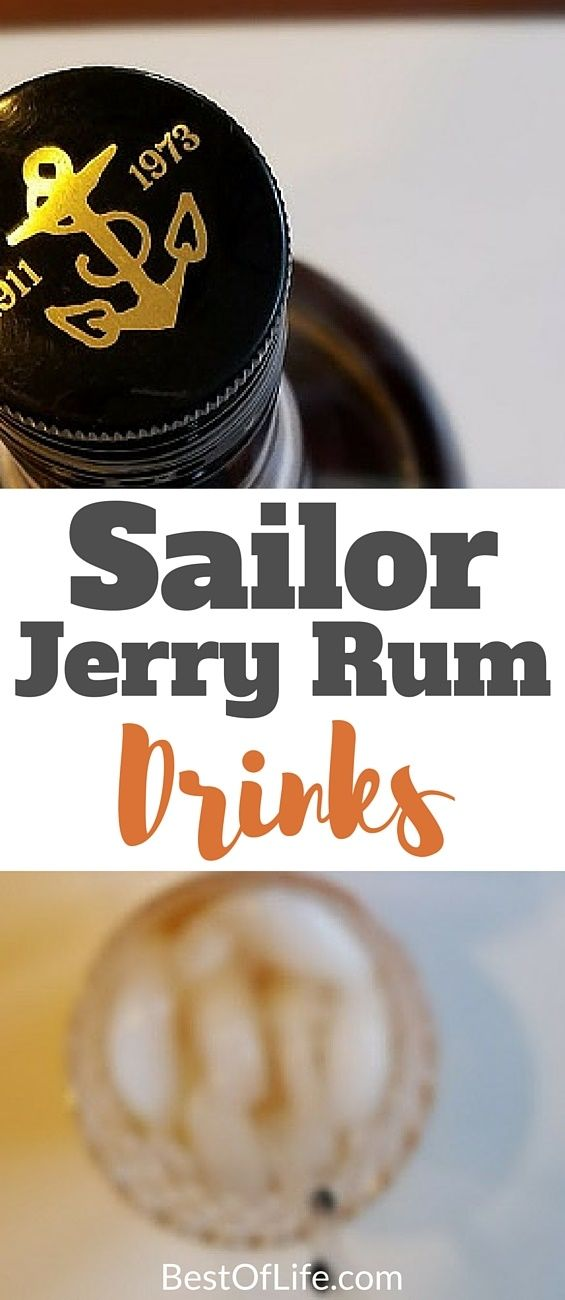 Here you have the best Sailor Jerry rum drinks that offer flavor and flare for a weeknight or weekend staple. Enjoy these best drinks with rum responsibly! Sailor Jerry Recipes | Best Rum Recipes | Best Cocktails with Rum | Sailor Jerry Cocktails | Easy Sailor Jerry Drinks