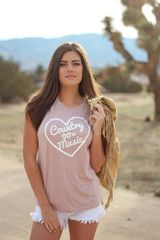 90's Country Signature Tank Dusty Rose www.licensetoboot.com Stagecoach Outfit Country Thunder outfit country concert outfit cma fest outfit country music