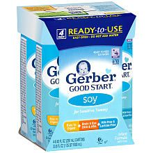 Gerber Good Start Soy Ready to Feed Infant Formula- 8.45 Ounce- 4 Pack