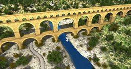 Ókori római vízvezeték és út