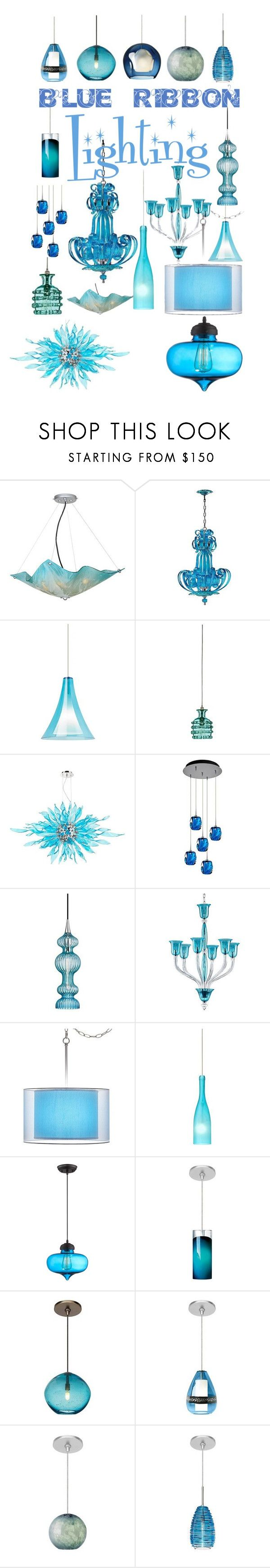 blue ribbon lighting by lampsplus on polyvore featuring interior interiors interior design home - Cyan Canopy Interior