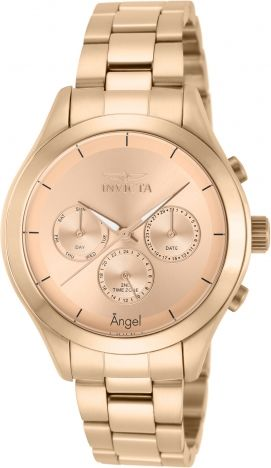 INVICTA Angel Lady 40mm Stainless Steel Rose Gold Rose Gold dial 9238/1972 Quartz