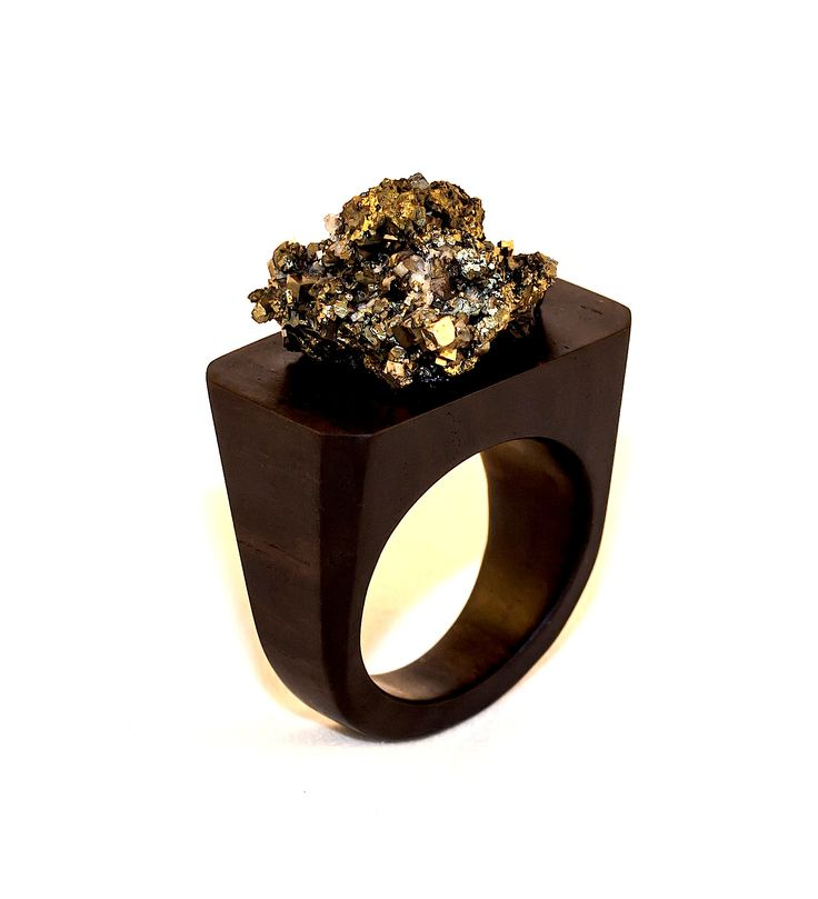 African Blackwood and Pyrite ring2.