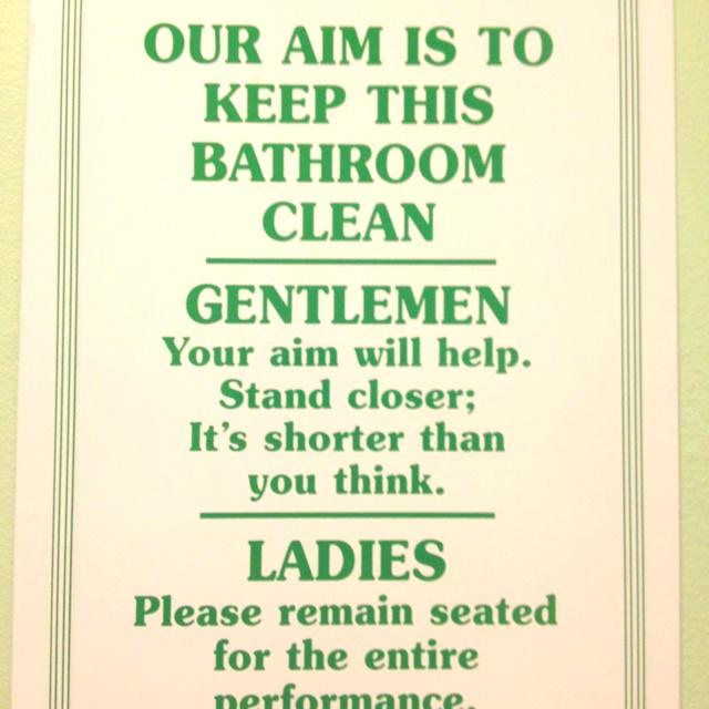 Bathroom Wall Humor: Bathroom Humor