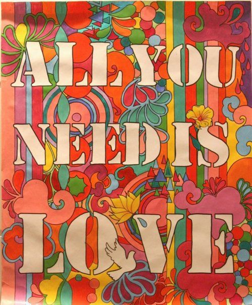 the Beatles psychedelic Poster All You Need Is Love