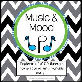 Mood - Literary Terms made fun! Mood isn't just found in literary works...this group and individual project is a great way to get students thinking about MOOD from exploring music in movies and analyzing current popular songs!Students will work together to evaluate songs from movies and how the songs impact the mood, or emotional response, of the viewer.