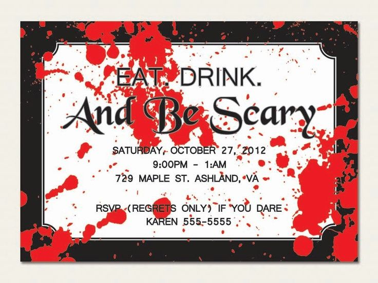 largest collection of unnerving Halloween invitations for your holiday party celebration at Holiday-Invitations