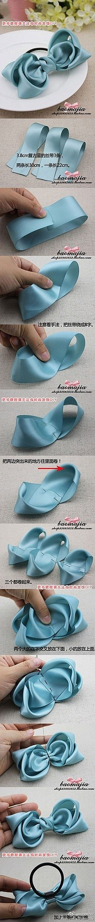 How to make a cute triple layered bow!