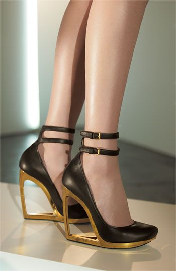 Lanvin Cutout Heel Pumps