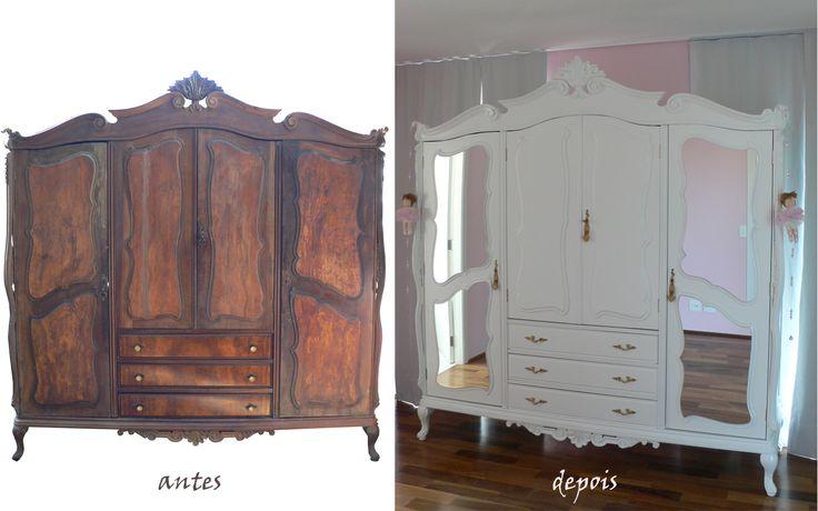Ateliando - Customização de móveis antigos: ANTES E DEPOIS