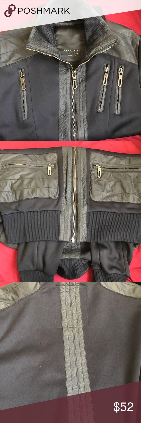Zara Man Jacket Black Zara Man jacket size M 6 zippers polyester and nylon bomber jacket Zara Jackets & Coats Bomber & Varsity