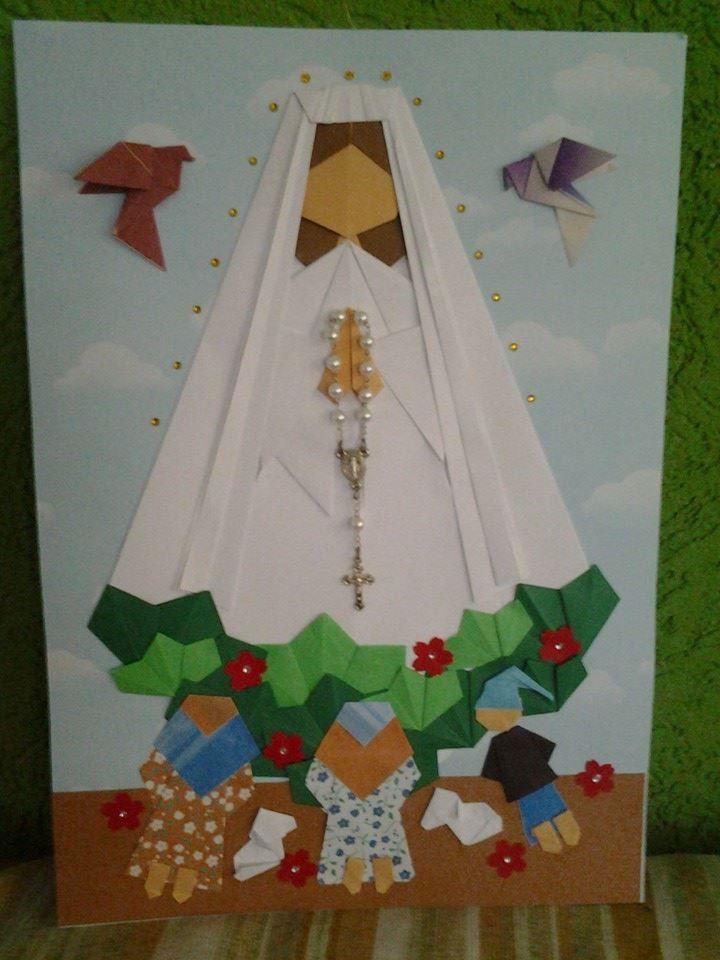 N.S. de Fátima em origami