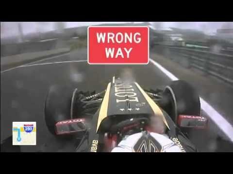 Kimi Raikkonen tested his new GPS! Sorry Kimi, couldn't resist!