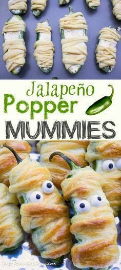 Halloween party appe Halloween party appetizer idea for adults!...  Halloween party appe Halloween party appetizer idea for adults! VIDEO TUTORIAL Halloween food for a party! Jalapeño Popper Mummies Recipe : http://ift.tt/1hGiZgA And @ItsNutella  http://ift.tt/2v8iUYW