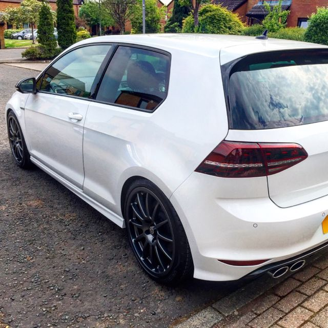 """Mk7 Golf R - Oryx White with Anthracite polished TD 1.3's 19"""""""