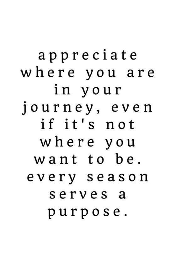 Every season serves a purpose inspiration