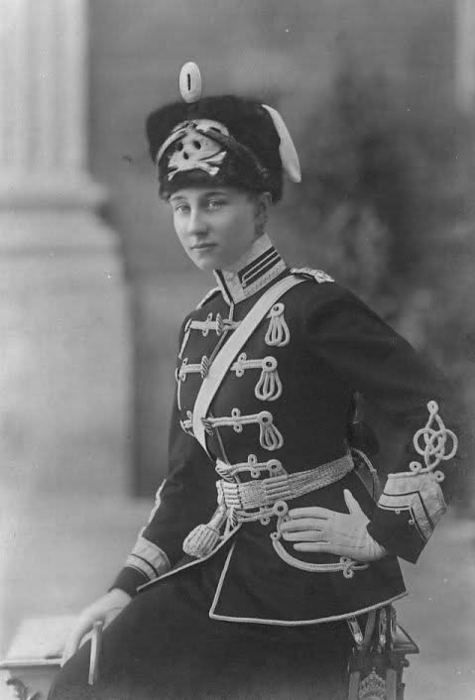 Princess Victoria Louise of Prussia. The only daughter of Kaiser Wilhelm II.    Seen here wearing the uniform of the Life Hussar Regiment (Leib Husaren Regt Nr 2) as she was their Colonel in Chief. Around 1910.
