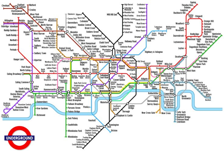 Mappa Metropolitana di Londra Cartina