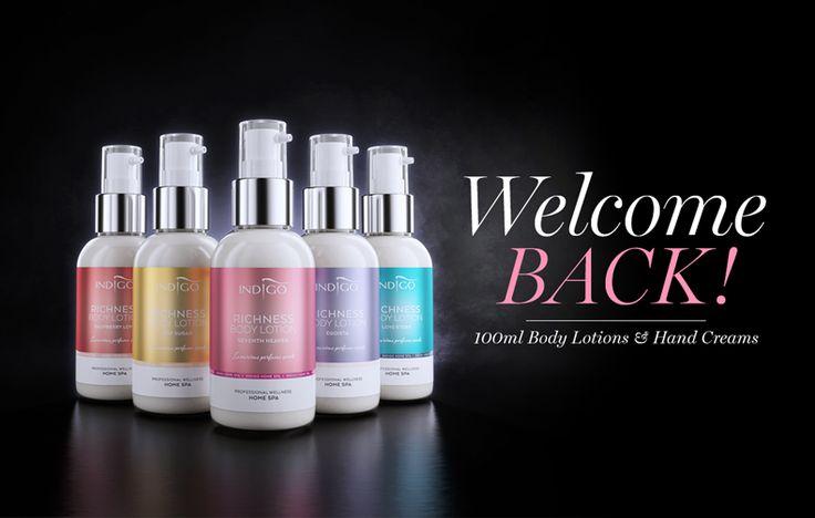 Indigo Body Lotions en Hand Crèmes zijn ook verkrijgbaar in 100ml verpaking, welke wil jij? http://www.indigo-nails.nl/nl/117-spa-producten