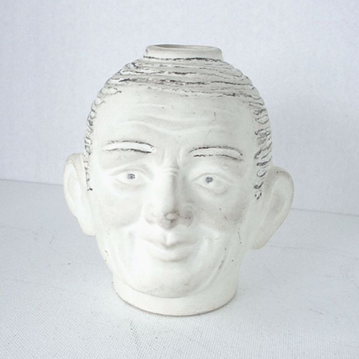 1940s Ceramic Man Head Planters Cout Renovation Maison