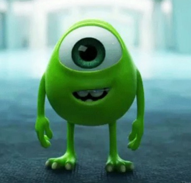 Mike Wasowski As A Kid-It Doesn't Get Any Cuter Than That