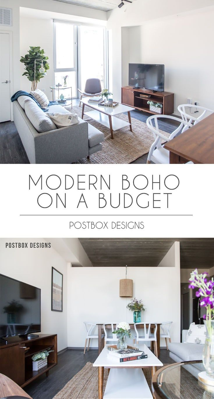 Postbox Designs Interior E Design Modern Boho Dining Room Living Makeover Reveal