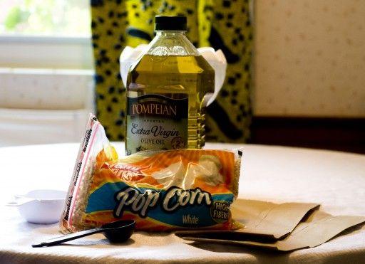 DIY Microwave Popcorn bags .... LOVE IT!