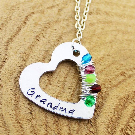 Personalized Grandma's Necklace Custom by RootedInLoveCustom