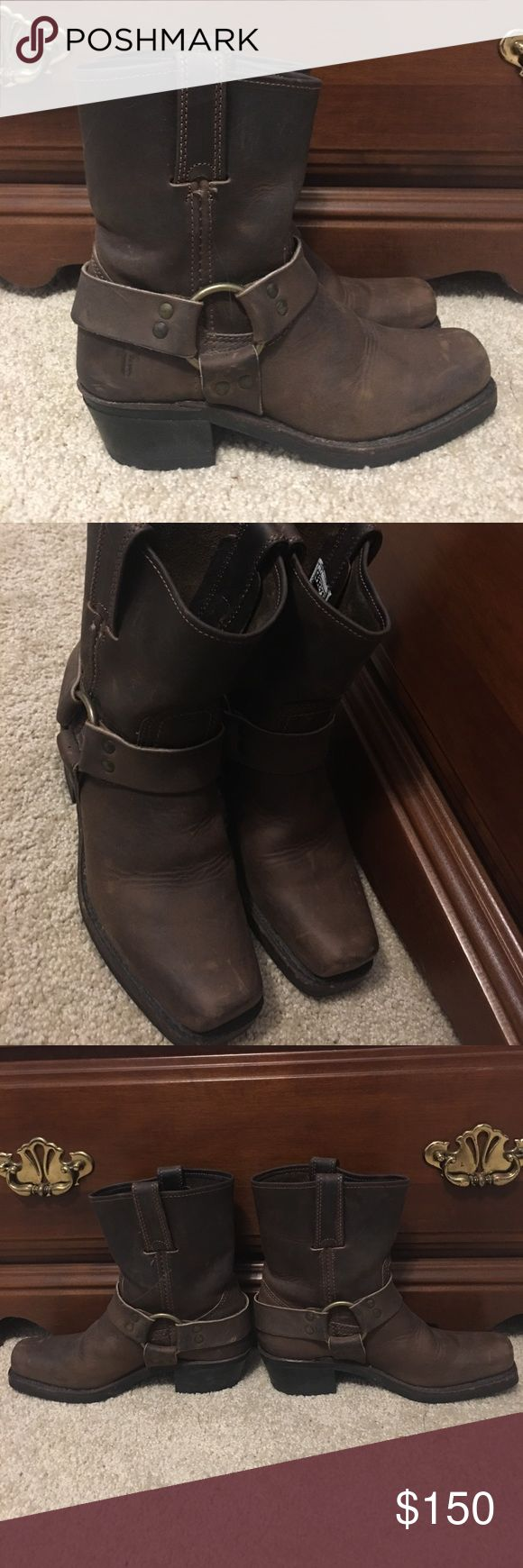 Selling this Frye harness 8R boots on Poshmark! My username is: rsederberg. #shopmycloset #poshmark #fashion #shopping #style #forsale #Frye #Shoes