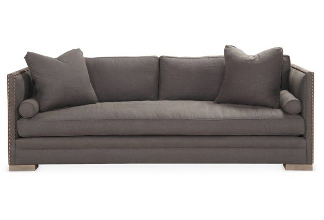 "Oliver 96"" Tailored Sleeper Sofa, Slate"