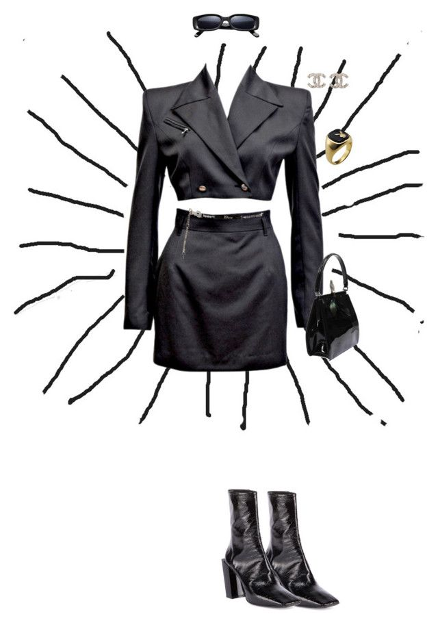 """Untitled #253"" by iam-eve ❤ liked on Polyvore featuring John Richmond, Chanel, Balenciaga, Christian Dior and Valentino"