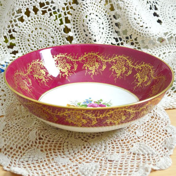 Extra Large Coalport Fruit Bowl Centrepiece Floral by Wicksteads