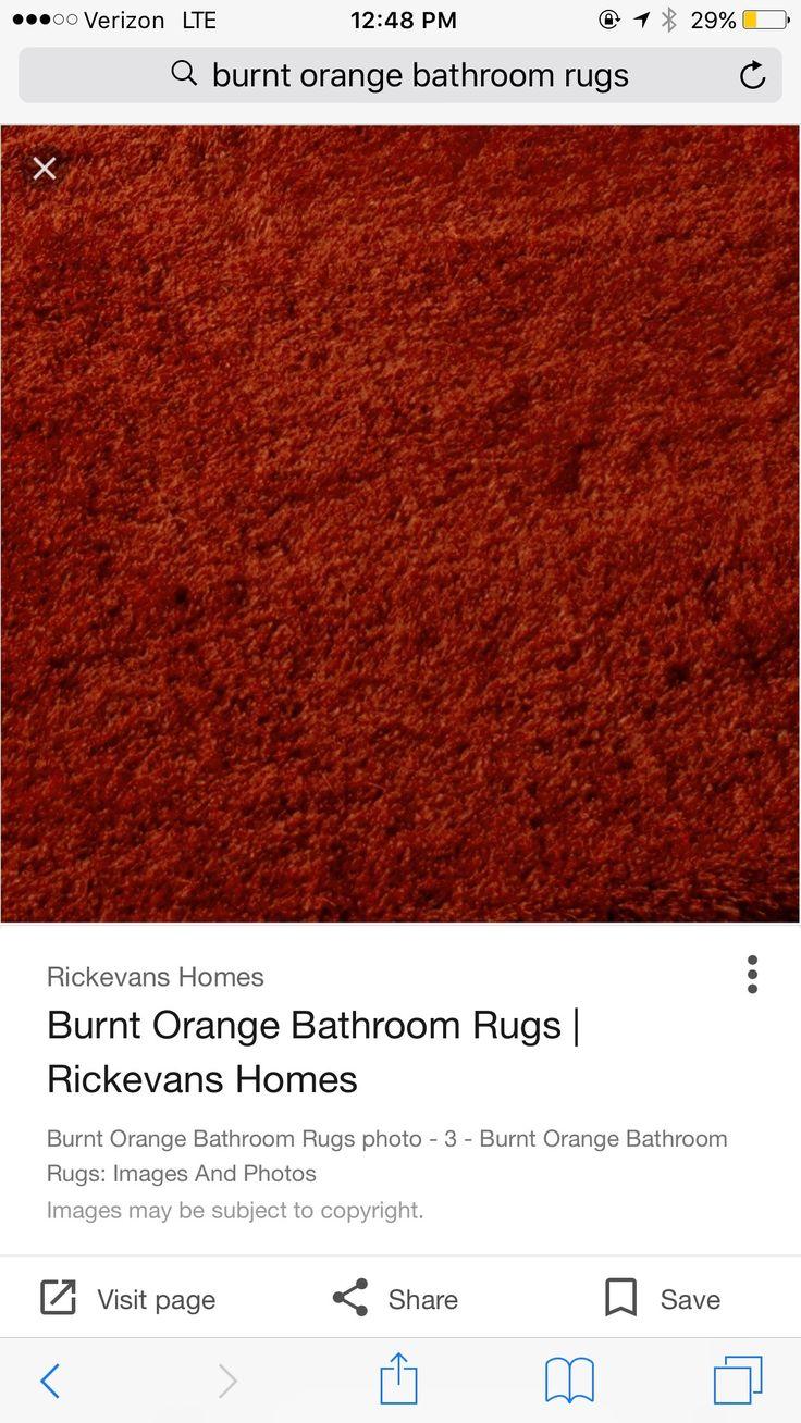 Pin By Super Dee On Master Bathroom Orange Bathroom Rug Burnt Orange Bathroom Rugs Burnt Orange Bathrooms