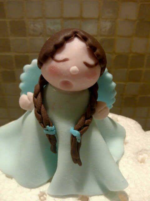 #angel_ sugarpaste angel for christmas cake decor